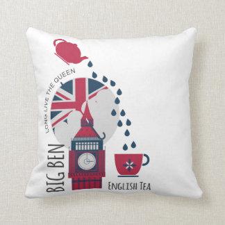 Eine Stelle des englischen Tees Kissen