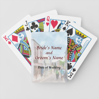Eine Straße in den Hochzeits-Produkten St George Bicycle Spielkarten