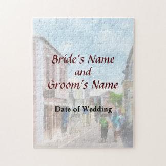 Eine Straße in den Hochzeits-Produkten St George Puzzle