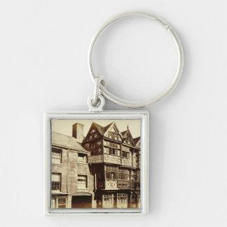 Eine Straße in Ludlow (b/w Foto) Schlüsselanhänger
