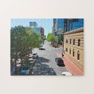 Eine stroll-unten Stadt-Straßen Puzzle