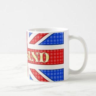Eine strukturierte Gewerkschafts-Jackflagge mit Kaffeetasse