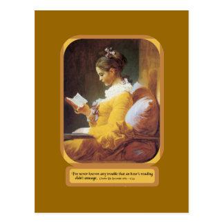 Eine Stunden-Lesung Postkarte