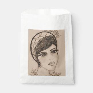 Eine süße Prallplatte im Sepia Geschenktütchen