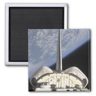 Eine teilweise Ansicht der Raumfähre-Bemühung Quadratischer Magnet