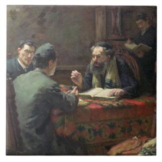 Eine theologische Debatte, 1888 Keramikfliese