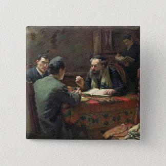 Eine theologische Debatte, 1888 Quadratischer Button 5,1 Cm