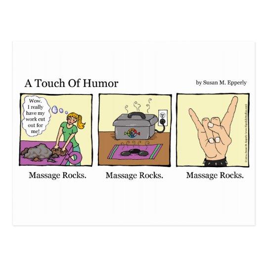 Eine Touch Des Spasses Massage Schaukelt Comic Postkarte Zazzle