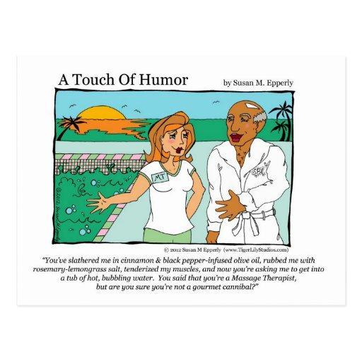 """""""Eine Touch des Spaßes"""" Wellness-Center-Massage-Ka Postkarten"""
