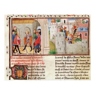 Eine Vereinbarung und das Gebäude eines Schlosses Postkarte