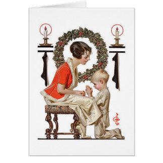 Eine Vintage J.C.Leyendecker Weihnachtskarte Karte