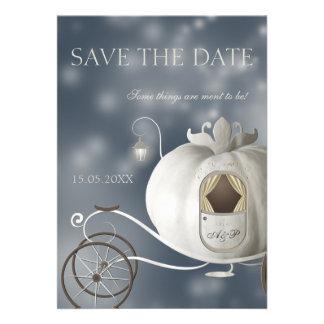 Eine wahre feenhafte Geschichte die Save the Date Personalisierte Ankündigungskarte
