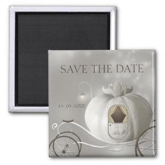 Eine wahre feenhafte Geschichte, die Save the Date Quadratischer Magnet