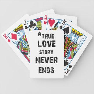 eine wahre Liebegeschichte beendet nie Bicycle Spielkarten
