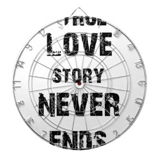 eine wahre Liebegeschichte beendet nie Dartscheibe