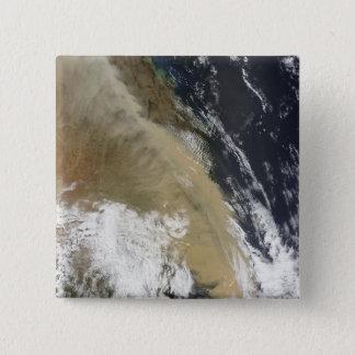 Eine Wand des Staubes dehnte von NordQueensla aus Quadratischer Button 5,1 Cm