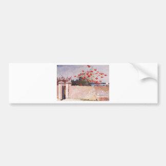 Eine Wand, Nassau durch Winslow Homer Autoaufkleber