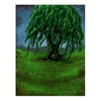 Eine Weide in einem Tal Postkarte