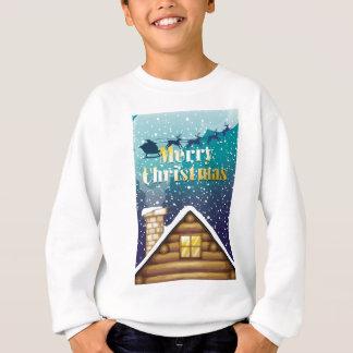 Eine Weihnachtskarte mit einer hölzernen Sweatshirt