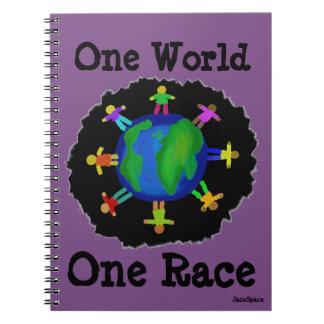 Eine Welt, ein Rennen Spiral Notizblock