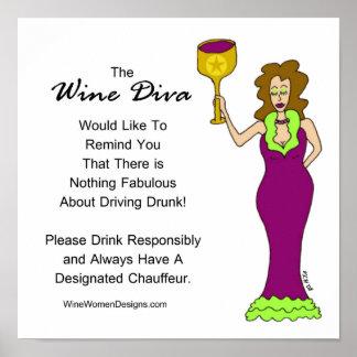 Eine wichtige Mitteilung von der Wein-Diva Poster
