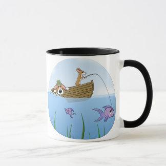 Eine wilde Fahrcorgi-Fischen-Tasse Tasse