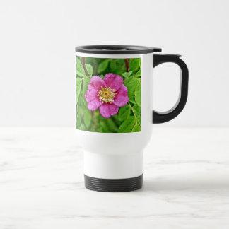 Eine wilde Rose Edelstahl Thermotasse