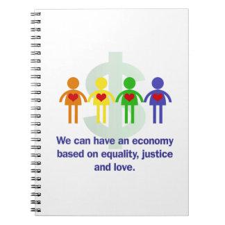 Eine Wirtschaft basiert auf Gleichheit, Spiral Notizblock