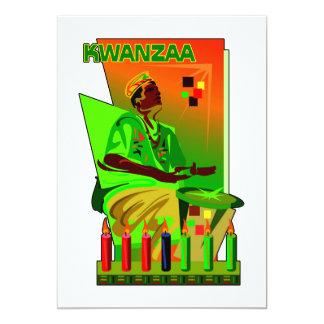 Eine Woche des Feier-Kwanzaa-Feiertags-Party laden Karte