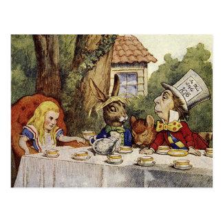 Eine wütende Tee-Party-Postkarte Postkarte