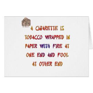 Eine Zigarette ist… Karte