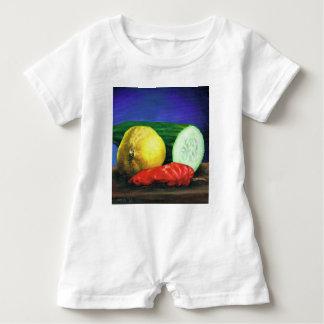 Eine Zitrone und eine Gurke Baby Strampler