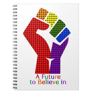Eine Zukunft, zum an LGBT zu glauben Notizblock