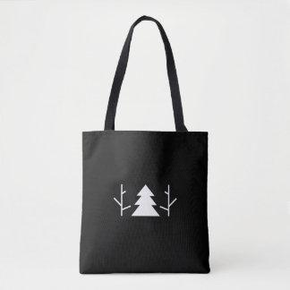 Eine zwei drei Baum-schwarze unbedeutende Tasche