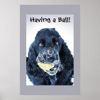 Einen Ball haben! Plakatdrucke