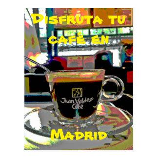 Einen Kaffee in Madrid Spanien nehmen Postkarte