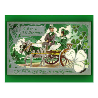 Eines Stückchen O Geschwätz-St Patrick Tageskarten Postkarte