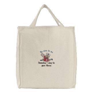 Eines Tages Krankenschwester Bestickte Tasche