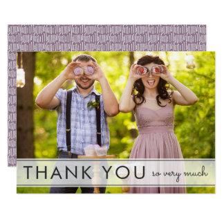 Einfach danken Spaß-Hochzeit Ihnen flache Karte 12,7 X 17,8 Cm Einladungskarte