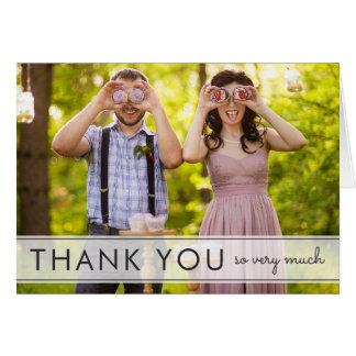 Einfach danken Spaß-Hochzeit Ihnen Gruß-Karte Grußkarte