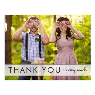 Einfach danken Spaß-Hochzeit Ihnen Postkarte