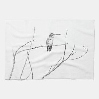 Einfach ein Kolibri auf einem Stock Handtuch