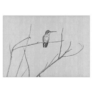 Einfach ein Kolibri auf einem Stock Schneidebrett