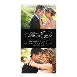 Einfach elegante Hochzeit danken Ihnen - Schwarzes Fotokarten