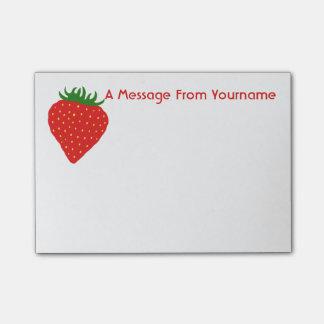 Einfach Erdbeerkundenspezifische Post-it Klebezettel