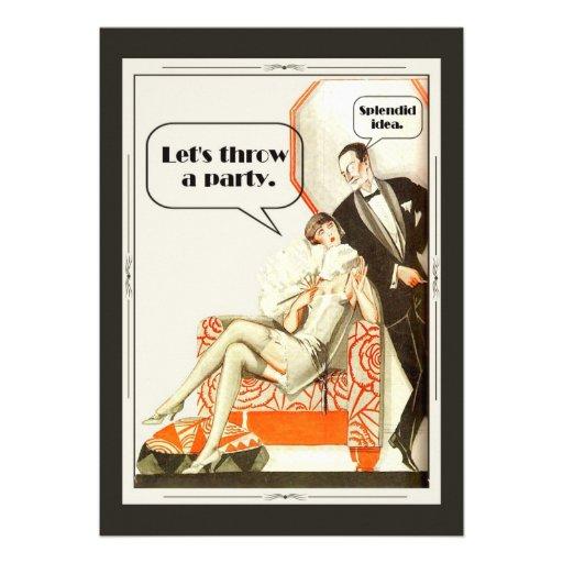 Einfach fabelhaftes Kunst-Deko-Party Personalisierte Ankündigungskarten
