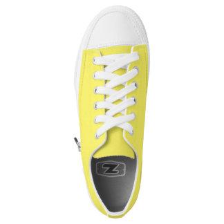 Einfach gelbe niedrige Spitzenschuhe Niedrig-geschnittene Sneaker