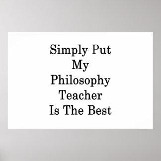 Einfach gesagt ist mein Philosophie-Lehrer das Poster