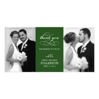 Einfach hübsche Hochzeit danken Ihnen Foto-Karten Bild Karte