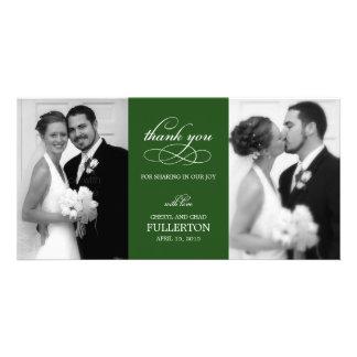 Einfach hübsche Hochzeit danken Ihnen Foto-Karten Fotokarten